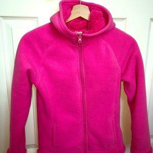 Faded glory pink furry hoodie 10-12